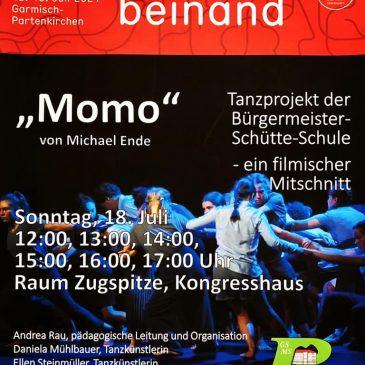 """Momo Tanzprojekt"" – Screening of performance film as part of GAP.beinand Festival 2021"